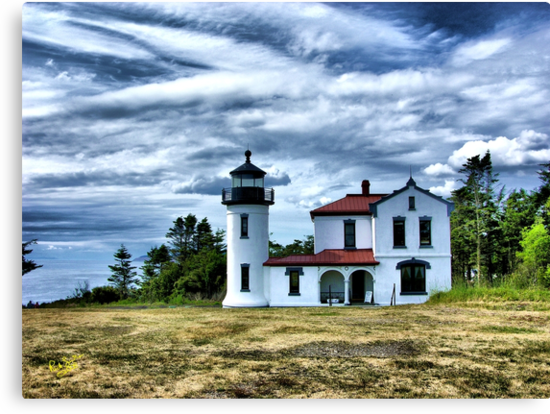 Lighthouse Under the Clouds by Rick Lawler