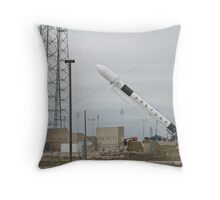 Falcon 9 Rising - Launch Complex 40 Throw Pillow
