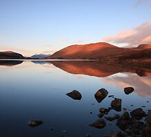 loch droma reflections. by highlandscot