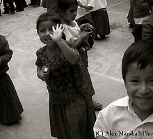 Happy Mayan School Kids by Alex Marshall