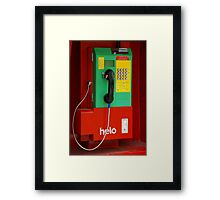 Don't Tell Me About YOUR Hang-Ups Framed Print