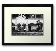 Shooter - Arles, France - 2010 Framed Print