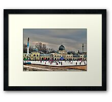 Skating in Budapest Framed Print