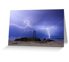 Lightning At Redhead Greeting Card