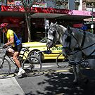 Swanston Street Melbourne Australia Day 26 January 2010. by observer11