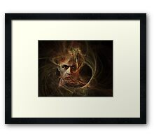 Man caught in a web Framed Print