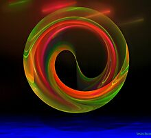 Yin Yang by Sandra Bauser Digital Art