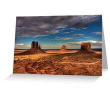 The Mittens of Monument Valley Greeting Card