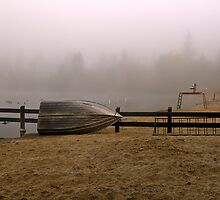 Boat and Lifeguard Stations, Lake Temescal, Oakland California by Cathy P. Austin