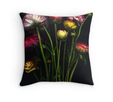 A handful of ranunculas Throw Pillow