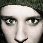 Green Eyed Girl - Self Portrait. by Ruth  Jones