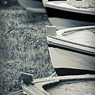 Boats in a row by Silvia Ganora