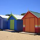 Brighton Beach Huts by Stephen Greaves