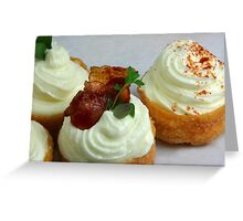 Croustades mise en place Greeting Card
