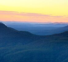 Pastel Morn - Blue Mountains World Heritage Area,Sydney - The HDR Experience by Philip Johnson