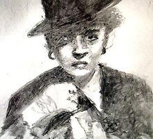 Bette Davis #2 - ACEO by Bill Meeker