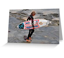 Cowrie Hole Surfer - Newcastle NSW Greeting Card