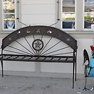 Texas-Proud Bench in Downtown Glen Rose by Susan Russell