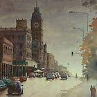 Sturt street, Ballarat at dusk by Mick Kupresanin