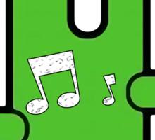 Funny digital green alien Sticker