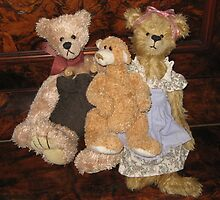 Three Teddy Bears on a Piano. by Mywildscapepics