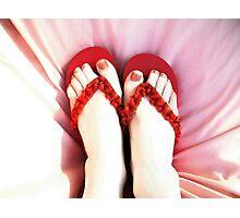 Frivolous Feet Photographic Print