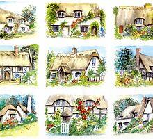 Cottage Minis by morgansartworld