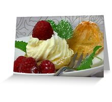 Fruity, Creamy, Light  Greeting Card