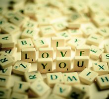I Love You Scrabble Jumble. by eyeshoot