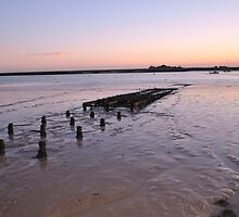 Sunset over River Crouch by AC Faithfull