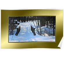 Footbridge to the Lake in Park Voyageur (framed for wall art/prints) Poster