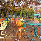 Autumn on the Terrace by Cathy Klima