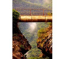 Vertigo  #2 - Cliff Walk  - Blue Mountains World Heritage Area, Sydney , Australia - The HDR Experience Photographic Print
