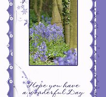 Birthday Card For Nana With Blue Bells by Moonlake