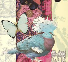 Crowned Pigeon Collage by Susan Duffey