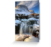 Russell Burn in Winter, Applecross. Scotland. Greeting Card