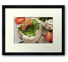 Creamy Cheese Tarte with Salmon  Framed Print