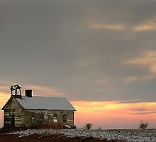 Old School House on the Prairie by Cushman