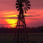Sunset Windmill 1 by Jerry Segraves