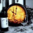 Wine by the Tour Eiffel ~  Eiffel Tower by Rick  Todaro
