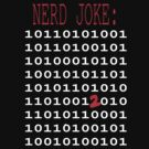 Binary Nerd Joke by lyndseyart
