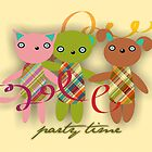 Trio Rio Friends Invitation Card by Rencha