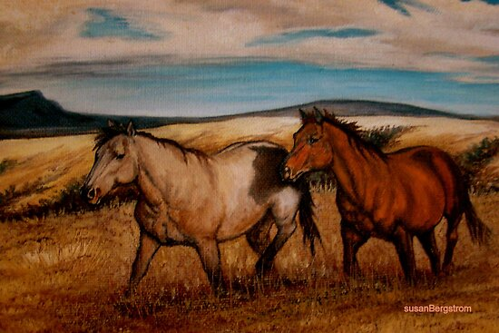 Prairie Pastures Detail Study by Susan Bergstrom