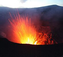 Volcano Vanuatu Mt Yasur Erupting by frenzix