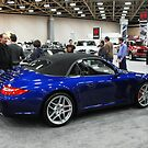 Shiny Blue Convertible at Dallas Car Show by Susan Russell
