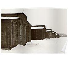 Mens Quarters at Auschwitz, Birkenau. Poster