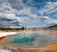 Thermal Pool at Black Sands Basin in Yellowstone by JimGuy