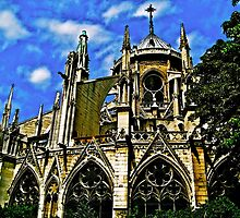 Notre Dame de Paris Flying Buttresses HDR by seanh