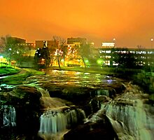 falls park @ night by allen-tyler