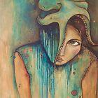 """love sticks, sweat drips"" (self-portrait) by Chantelle Petith"